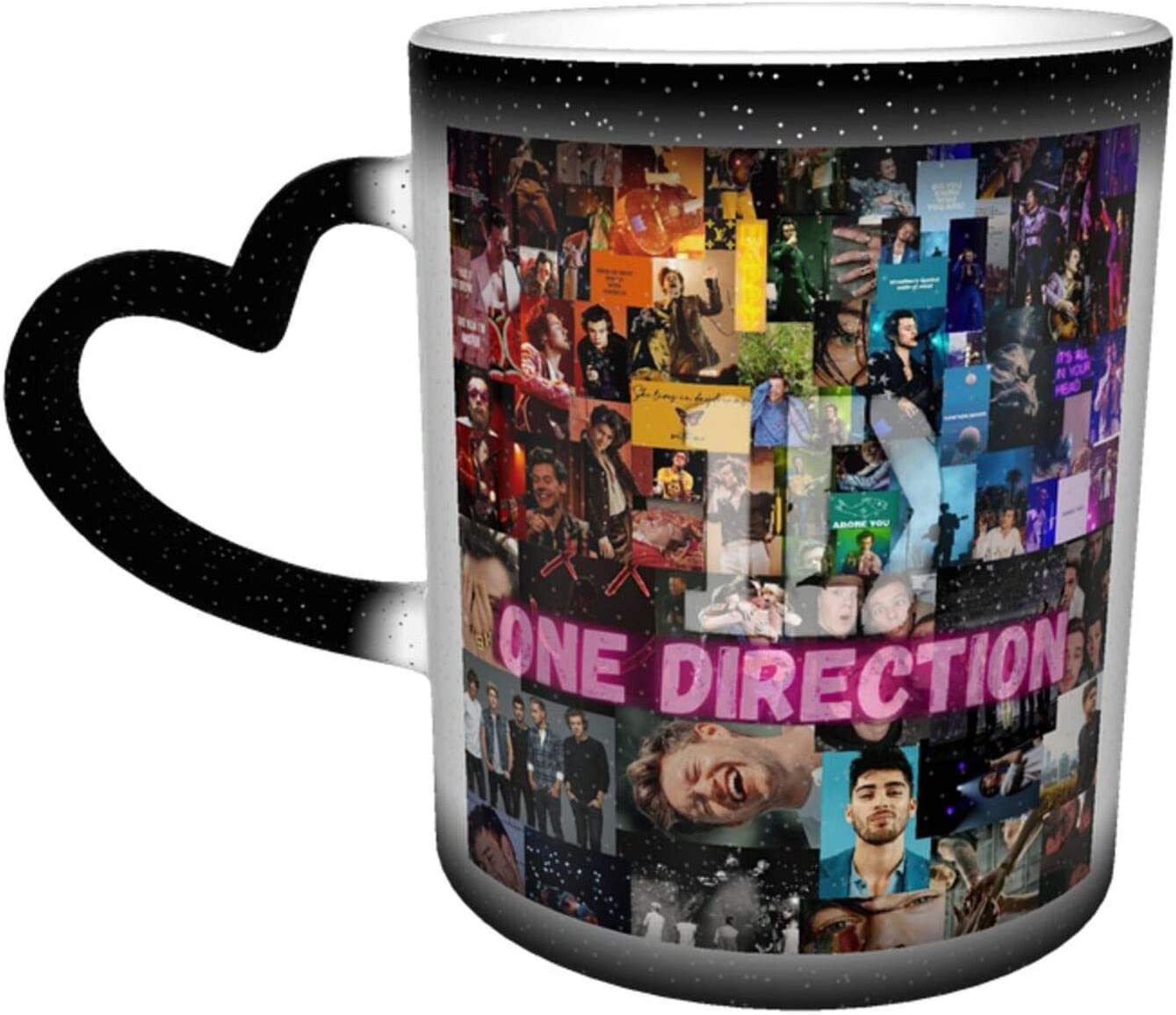 One D-irec-tion Ceramic Heat Color Changing Coffee Mug Cute Novelty Cool Mug Cup Tea Cup 11 Oz Great Gift For Birthday Room Decor Bar Office Home Gift Tea