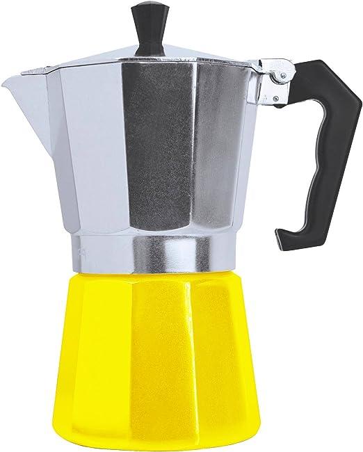 Hornillo, cafetera de espresso maker – Cafetera italiana para Gas O eléctrico hornillo, italiano Espresso Cappuccino o latte (3 taza amarillo): Amazon.es: Hogar