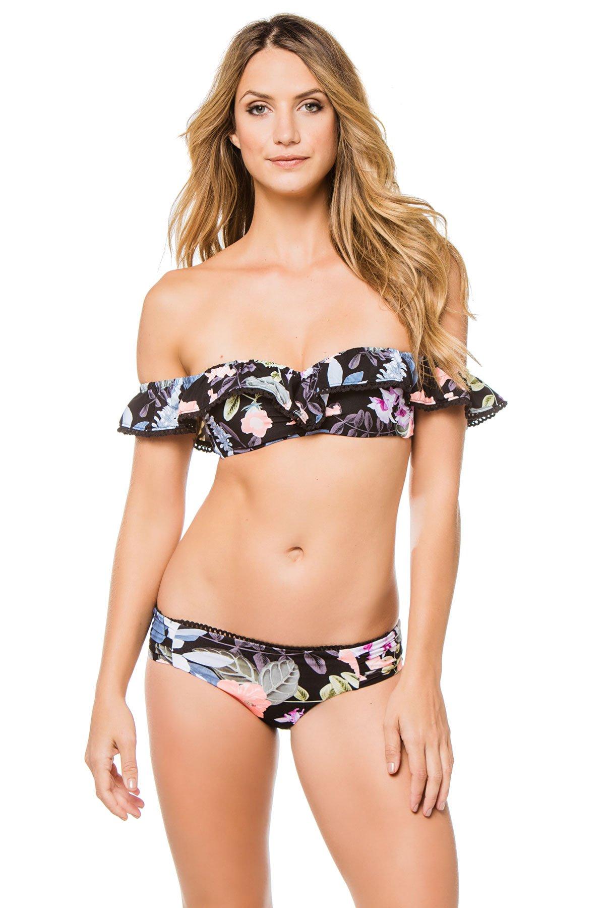Seafolly Women's Summer Vacay Bandeau Bikini Top Black 8