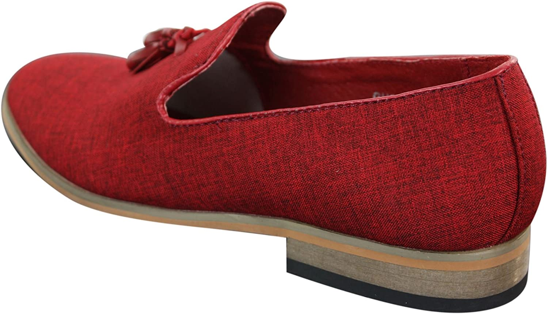GALAX Mens Slip On Tassel Driving Shoes Loafers Light Smart Casual Black Blue Italian