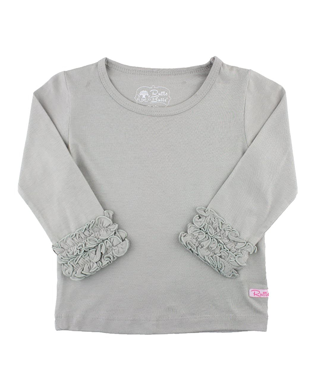 dd2f5678 Amazon.com: RuffleButts Little Girls Undershirt - Extra Soft Long Sleeved  Layering: Clothing