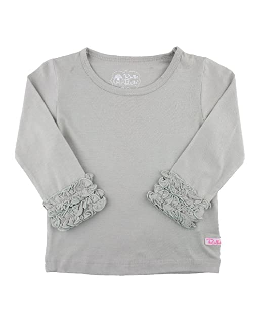 bf4bd170 Amazon.com: RuffleButts Little Girls Undershirt - Extra Soft Long ...