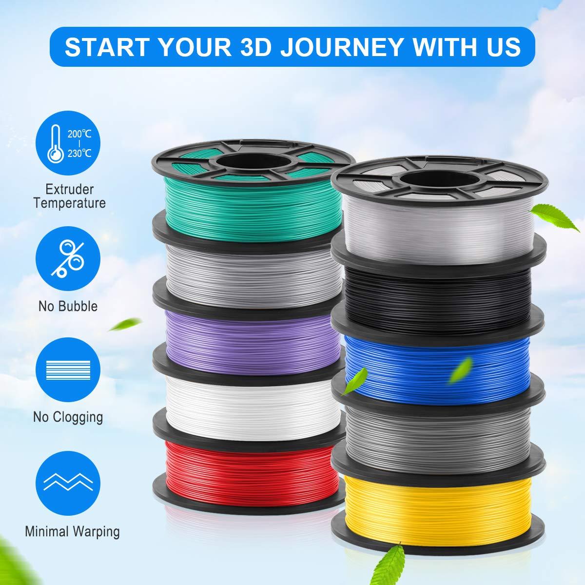 Spool 0.02 mm,1KG ,1.75mm Filament // 3D Warhorse PLA Filament Black,PLA Filament 1.75mm,PLA 3D Printer Filament,Dimensional Accuracy