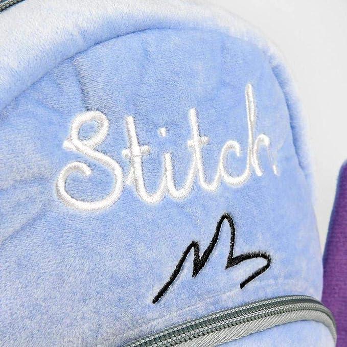 Artesania Cerda - Mochila Guarderia Personaje Disney Stitch, 22 cm, Azul