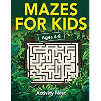 Mazes For Kids Ages 4-8: Maze Activity Book | 4-6, 6-8 | Workbook for Games, Puzzles, and Problem-Solving