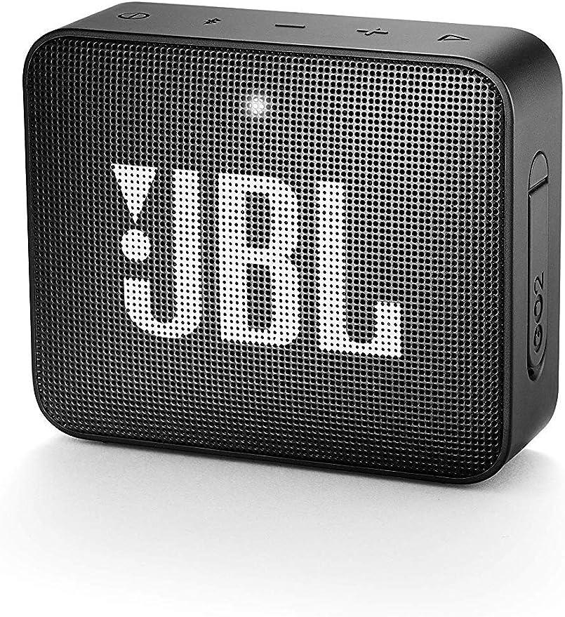 Jbl Go 2 Kleine Musikbox In Schwarz Wasserfester Portabler Bluetooth Lautsprecher Mit Freisprechfunktion Bis Zu 5 Stunden Musikgenuss Mit Nur Einer Akku Ladung Audio Hifi