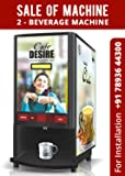 Cafe Desire Coffee and Tea Vending Machine with 1kg Coffee Premix (Multicolour, CDCTVMOR)