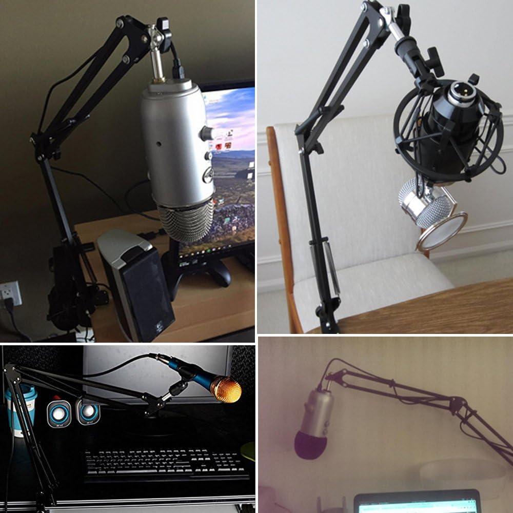 Etubby Adjustable Desktop Microphone Suspension Boom Scissor Arm Stand Holder