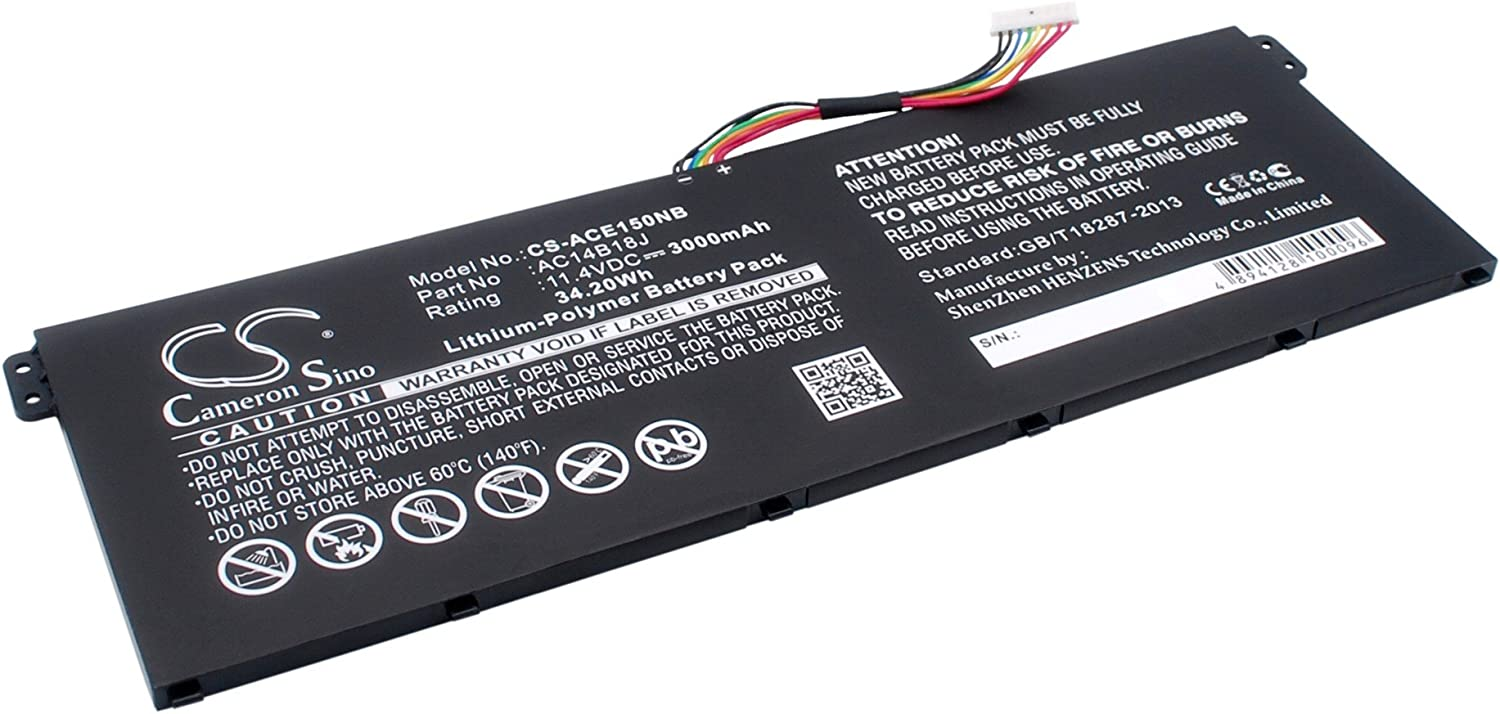 GAXI Battery for Acer Aspire Aspire ES1-111-C5M1, Aspire E11, Aspire E3 Replacement for P/N AC14B13J, AC14B18J, AC14B18J(3ICP5/57/80)