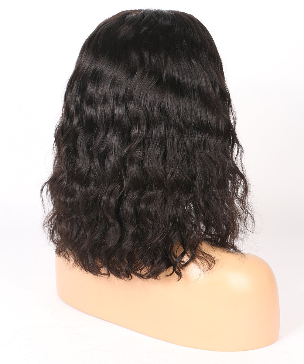 BEEOS Hair Brazilian Virgin Human Hair Lace Front Wigs Glueless Short Bob Human Hair Wigs Wavy With Baby Hair For Black Women 10inch Short Wavy Lace Wigs On Sale by BEEOS (Image #4)