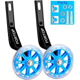 FORTOP Bicycle Training Wheels Heavy Duty Rear with Stabilizers Mounted Kit for Kids Boy Girls Bikes of 12 14 16 18 20…
