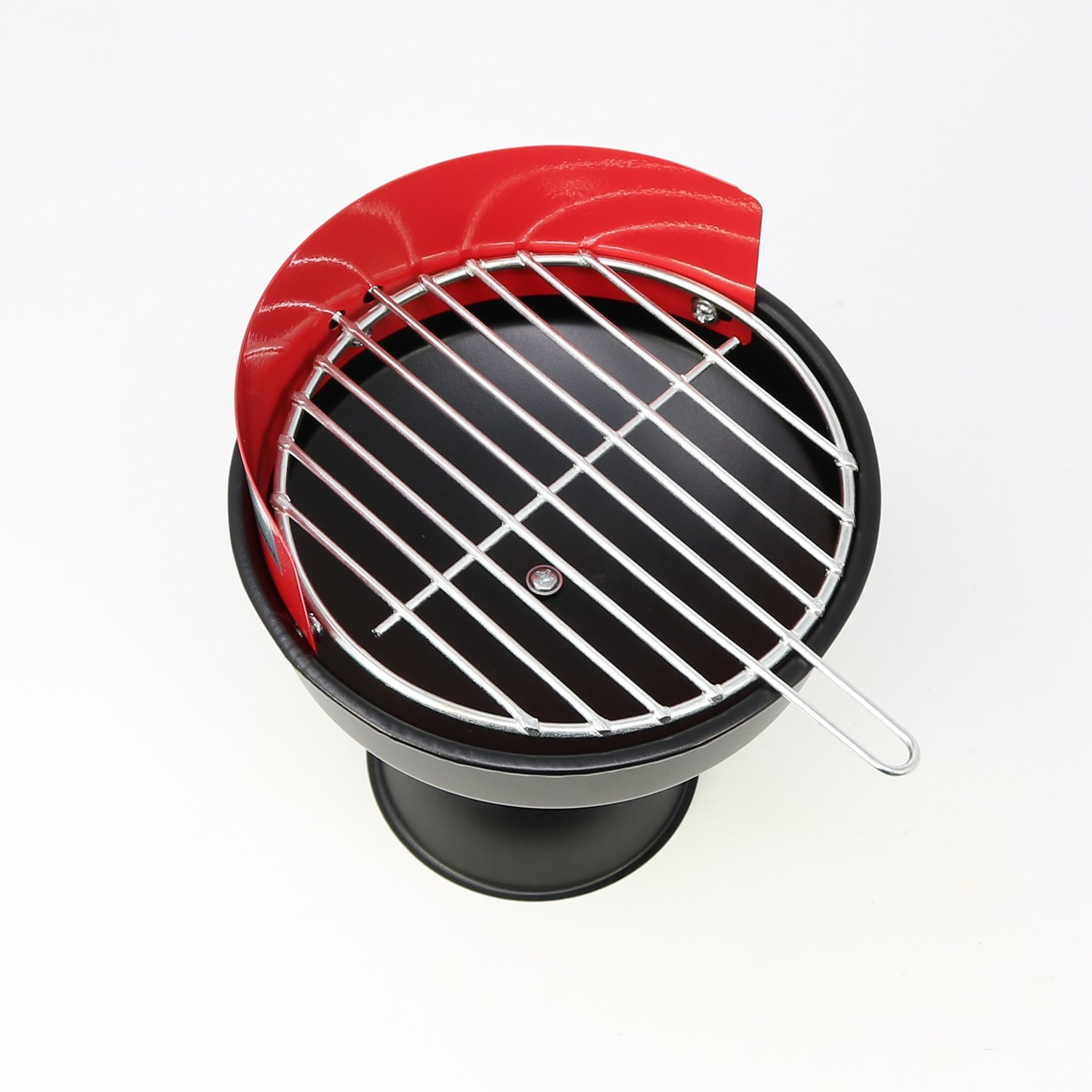 COM-FOUR/® Funny Metal Ashtray for Outdoor Use in Mini Grill Design 1 piece
