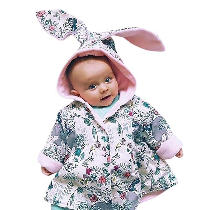 Bebé recien nacido Conejo dibujos abrigo con capucha, Yannerr niña ...