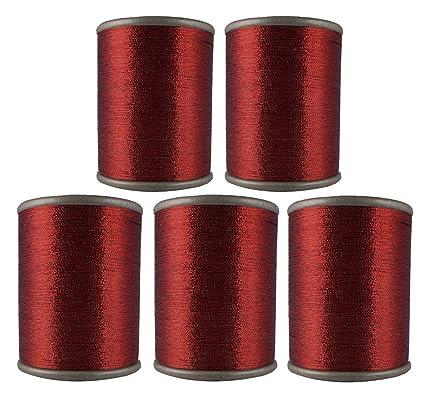 Amazon Maroon Metallic Yarn Machine Sewing Embroidery Art Craft