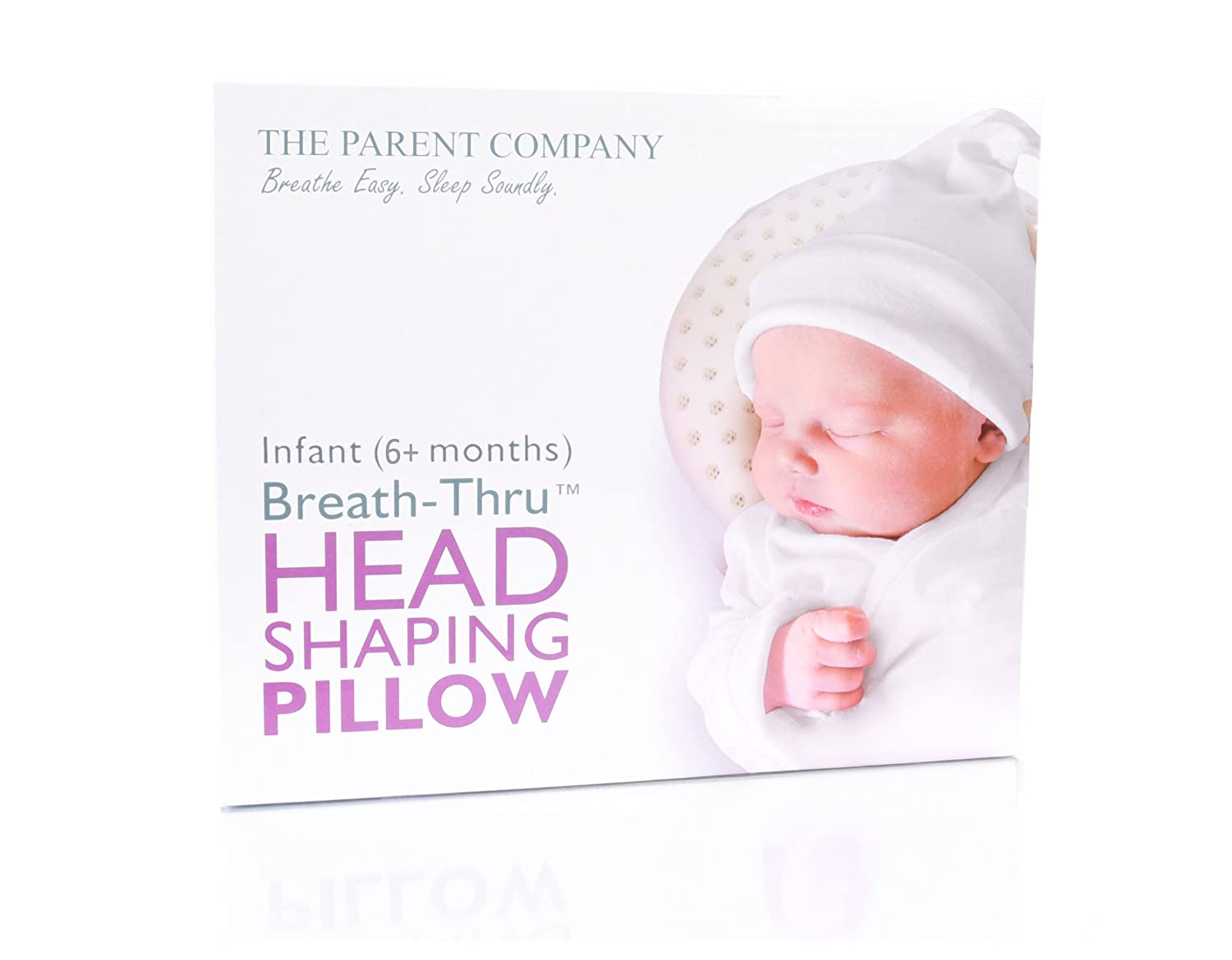 The Parent Company | Breathe-Thru Head Shaping Baby Pillow & Pillowcase | Breathable Design & Ultra-Soft Memory Foam Head Support | For Newborns (0-6 Months)