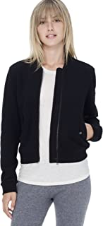 product image for James Perse Brushed Fleece Bomber Jacket (2 / Medium) Black
