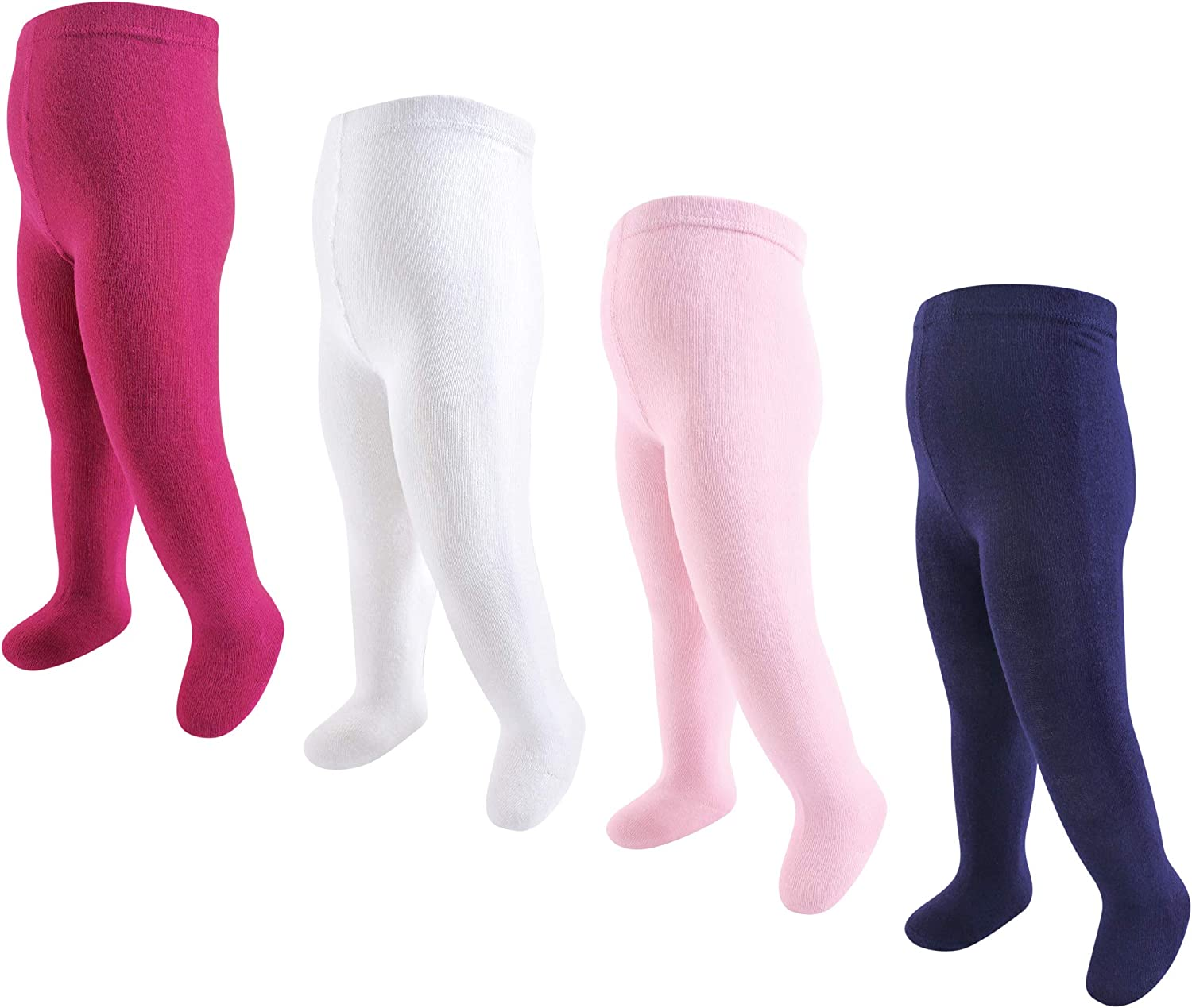 Touched by Nature baby-girls Organic Cotton Tights 4 Pack Tights