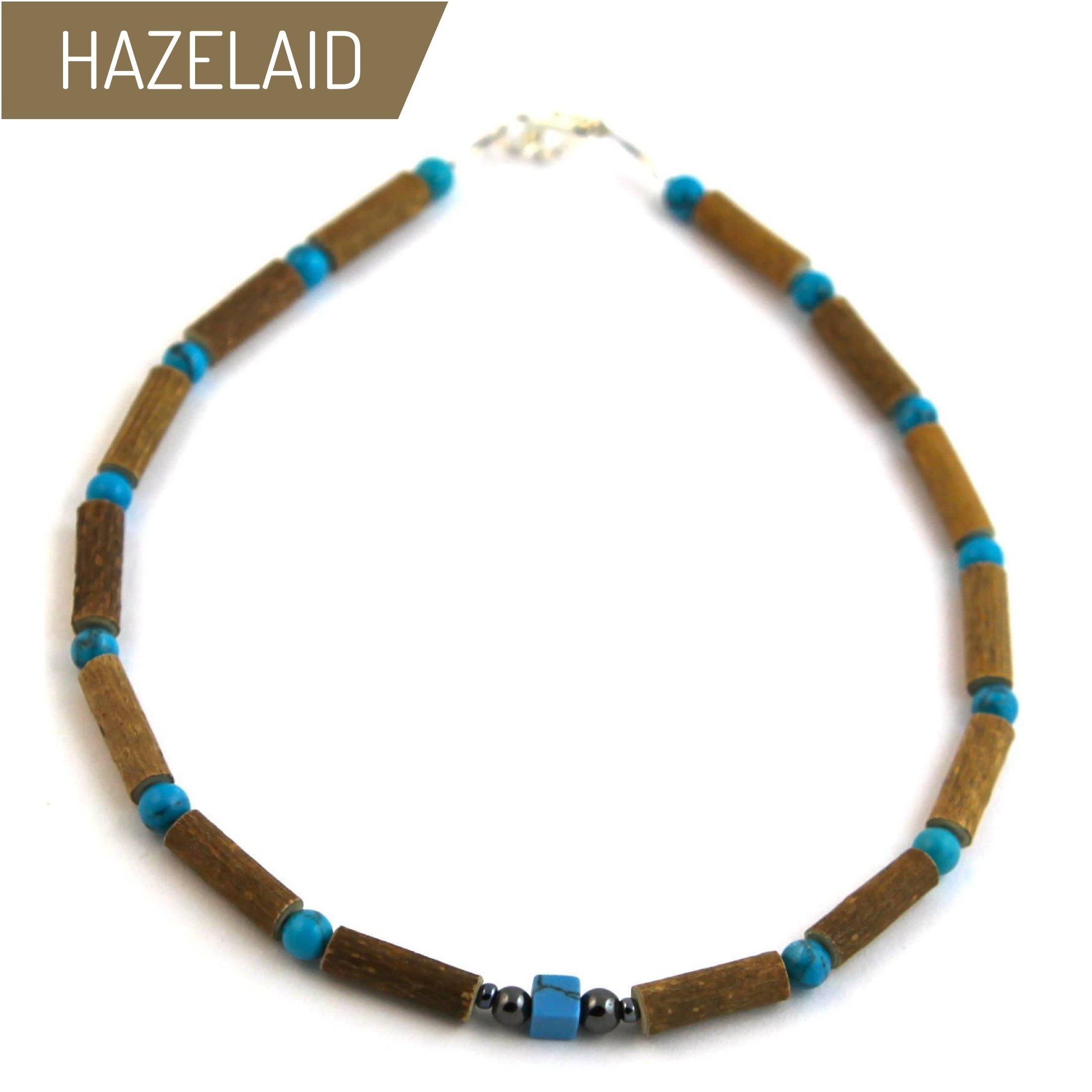 Hazelaid (TM) Child Hazelwood-Gemstone Necklace - 11'' Turquoise