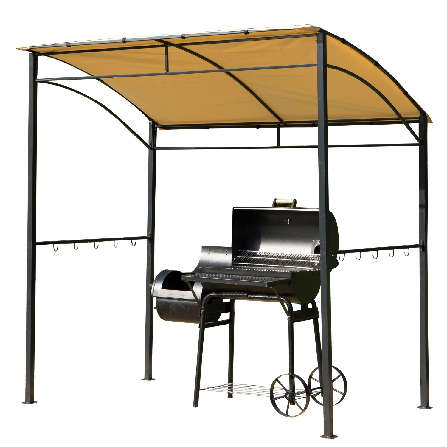 Amazon.com  Outsunny BBQ Grill Canopy Steel Frame Shelter Brown  Outdoor Canopies  Garden u0026 Outdoor  sc 1 st  Amazon.com & Amazon.com : Outsunny BBQ Grill Canopy Steel Frame Shelter Brown ...