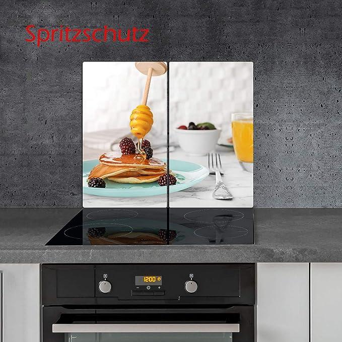 Cocina de inducción, 2 Piezas, vitrocerámica, diseño de ...