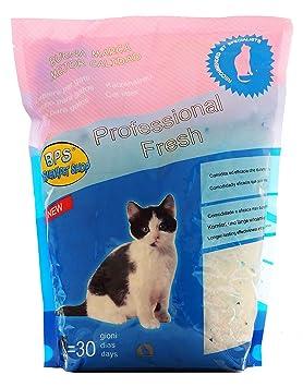 BPS 7.6 L Arena de Sílice para Gatos Arena Blanco Fresco Mascotas Cat Litter 3 Tamaños