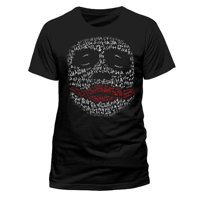 Batman The Dark Knight-Joker Ha Outline, Camiseta para Hombre: Amazon.es: Ropa y accesorios