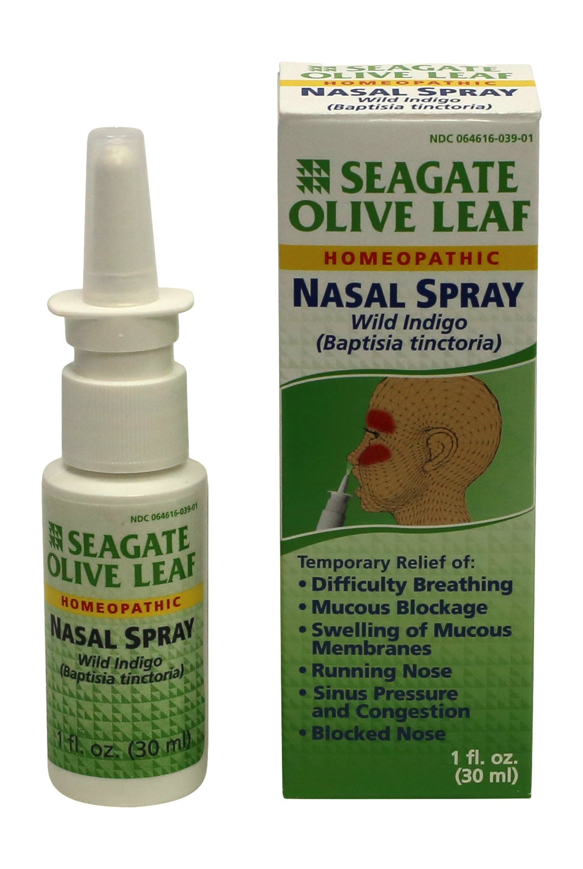 Seagate Products Olive Leaf Homeopathic Nasal Spray 1 oz Bottle, 1-Pack