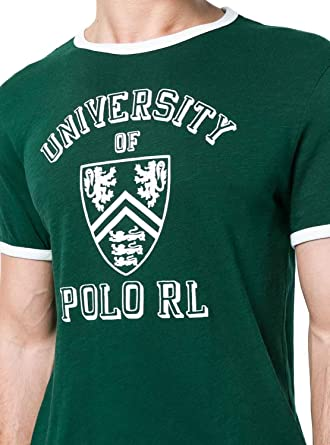 Ralph Lauren Camiseta Polo SSL Tsh Verde Hombre L College Green ...