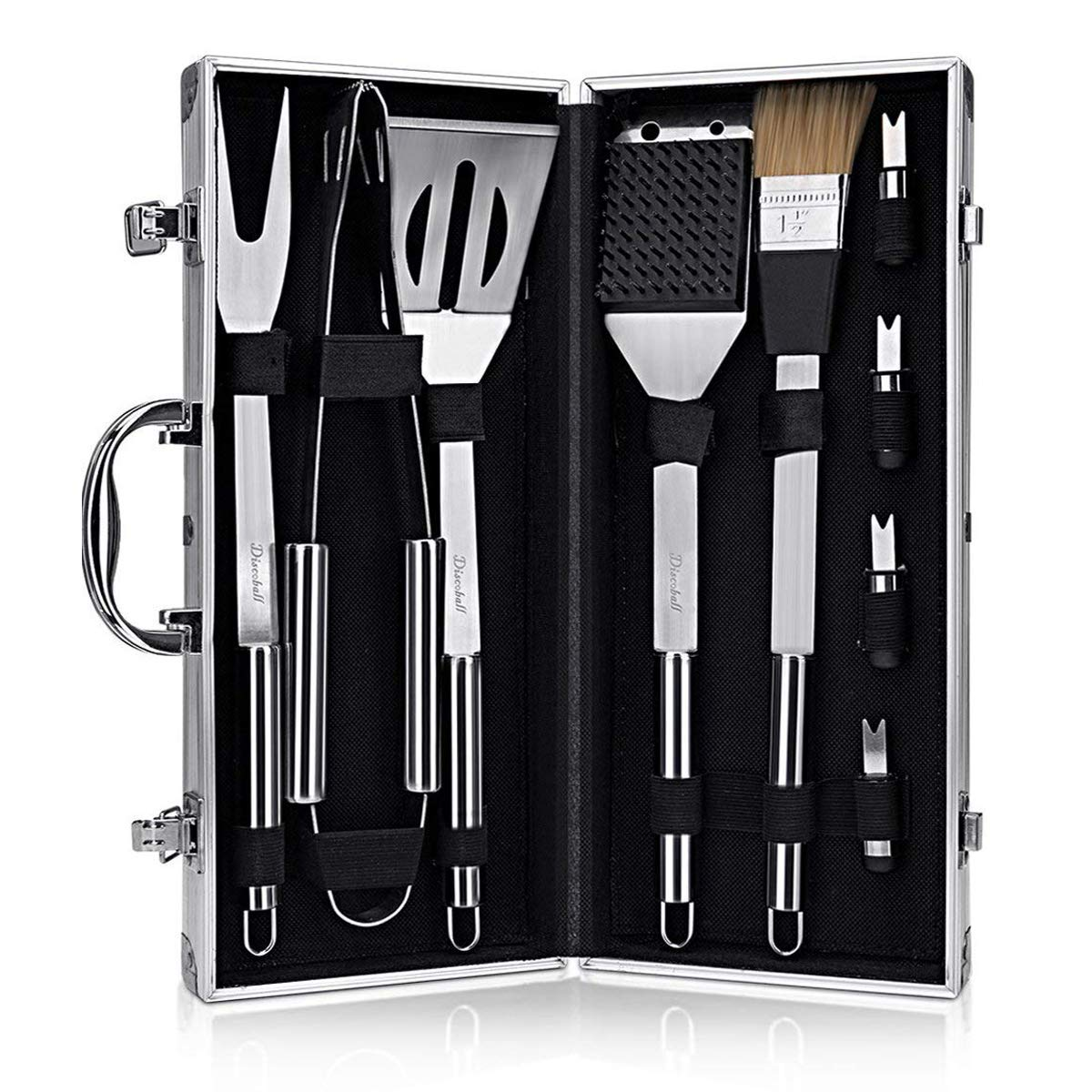 CCBETTER Barbecue Tool Set for Camping and Kitchen Premium Stainless Steel Barbecue Grilling -Gift for Man Dad Women Barbecue Enthusiasts Set of 9
