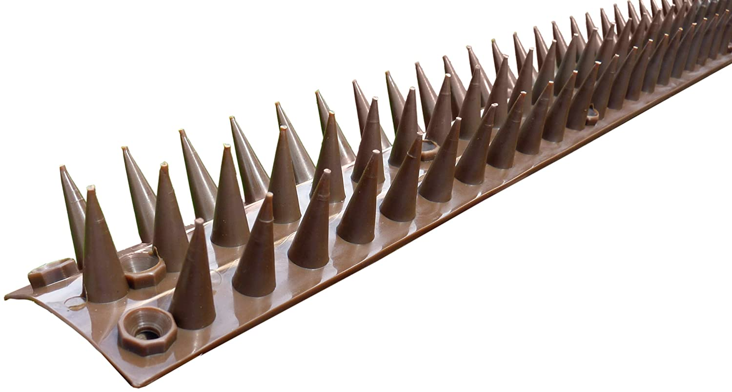 Good Selections Fence And Wall Spikes 5 Metre Pack (brown) GS10022 5 metre length 10 strips birds