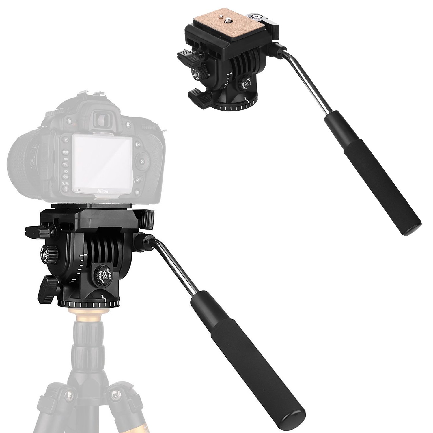Meco VT-1510 Tripod Action Fluid Drag Head Video Camera by MECO
