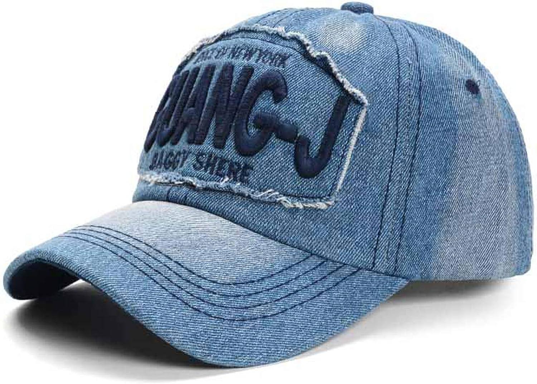 NAAO Multicolor Embroidery Alphabet Baseball Cap Adjustable Casual Cowboy hat Outdoor Sports Sunscreen Climbing Cap