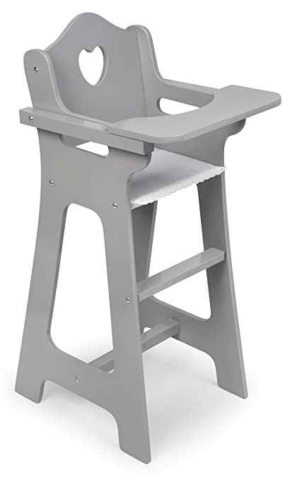Merveilleux Badger Basket High Chair Executive (fits American Girl Dolls), Gray
