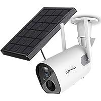 Solar Security Camera Wireless Outdoor WiFi Camera, YESKAMO HD 1080P Solar Powered Camera 10400mAh Battery IP Camera for…