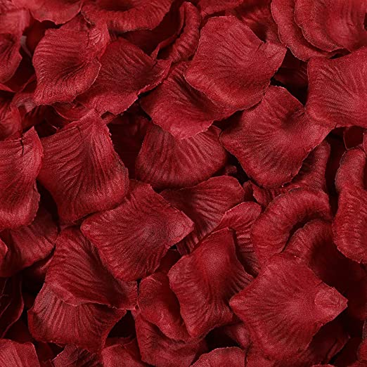 Petalos artificiales 300 piezas de Petalos de Rosa artificial