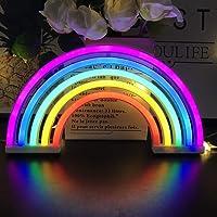 Luz de neón decorativa del arco iris del