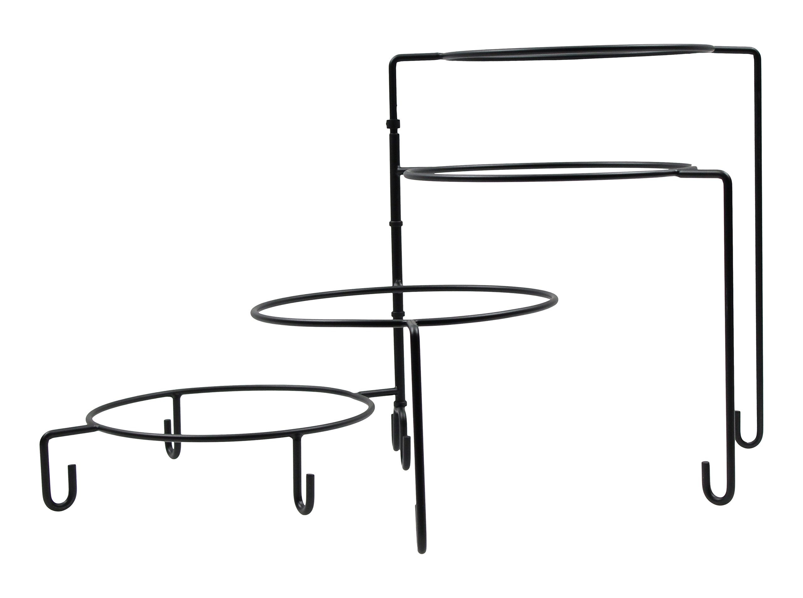 TableCraft Products BKP4 Stand, 4 Tier, 14.5''Height, Black Metal
