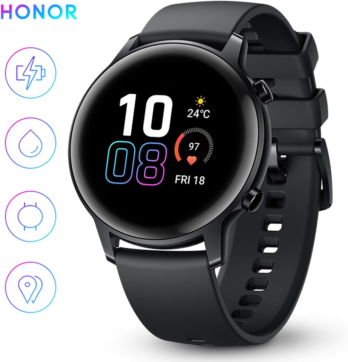 HONOR Smartwatch Magic Watch 2, 42mm Reloj Inteligente con Pulsómetro hasta 14 días de Batería 5ATM Waterproof Pantalla Táctil Amoled de 1.39