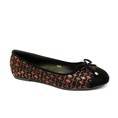 299ba108841b5 EnvyLondon Womens Black Ballerina Girls Ballet Dolly Pumps Ladies Flat  Loafers Shoes Size New UK 3