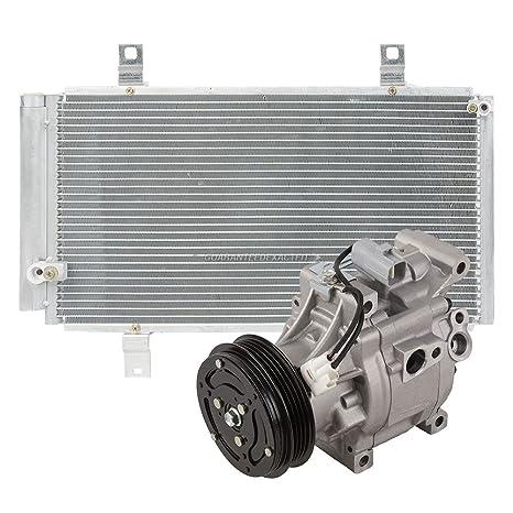 Marca nueva AC Compresor + a/c condensador y secador para Mazda RX-8