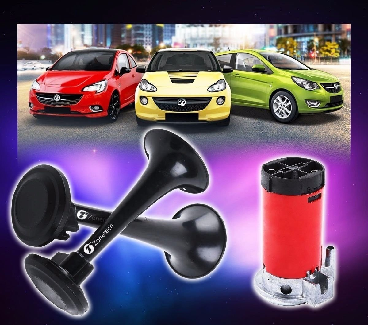 House Deals Air Horn Dual Trumpet Train Car Kit Compressor Loud and Powerfull Premium Quality Affordable 115DB Truck Loud 12v