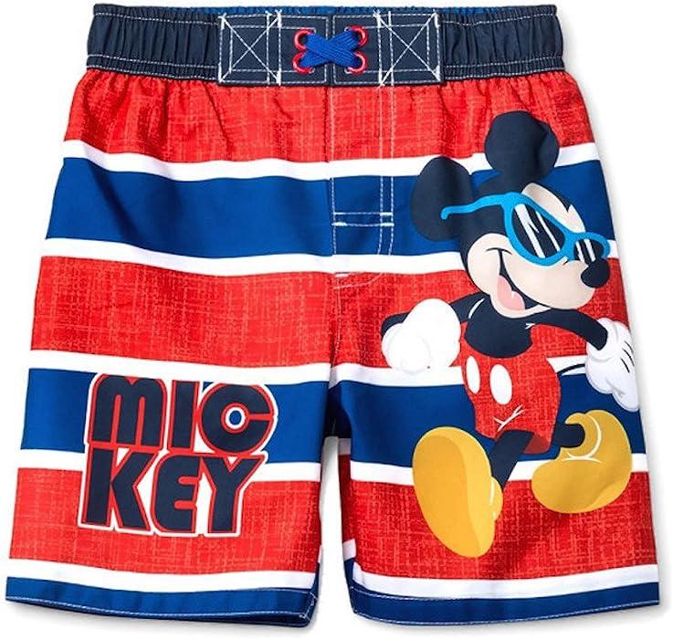 401c4b7fbf411 Amazon.com: Disney Junior Toddler Boys' Mickey and The Roadster Racers Swim  Trunks (3T): Clothing