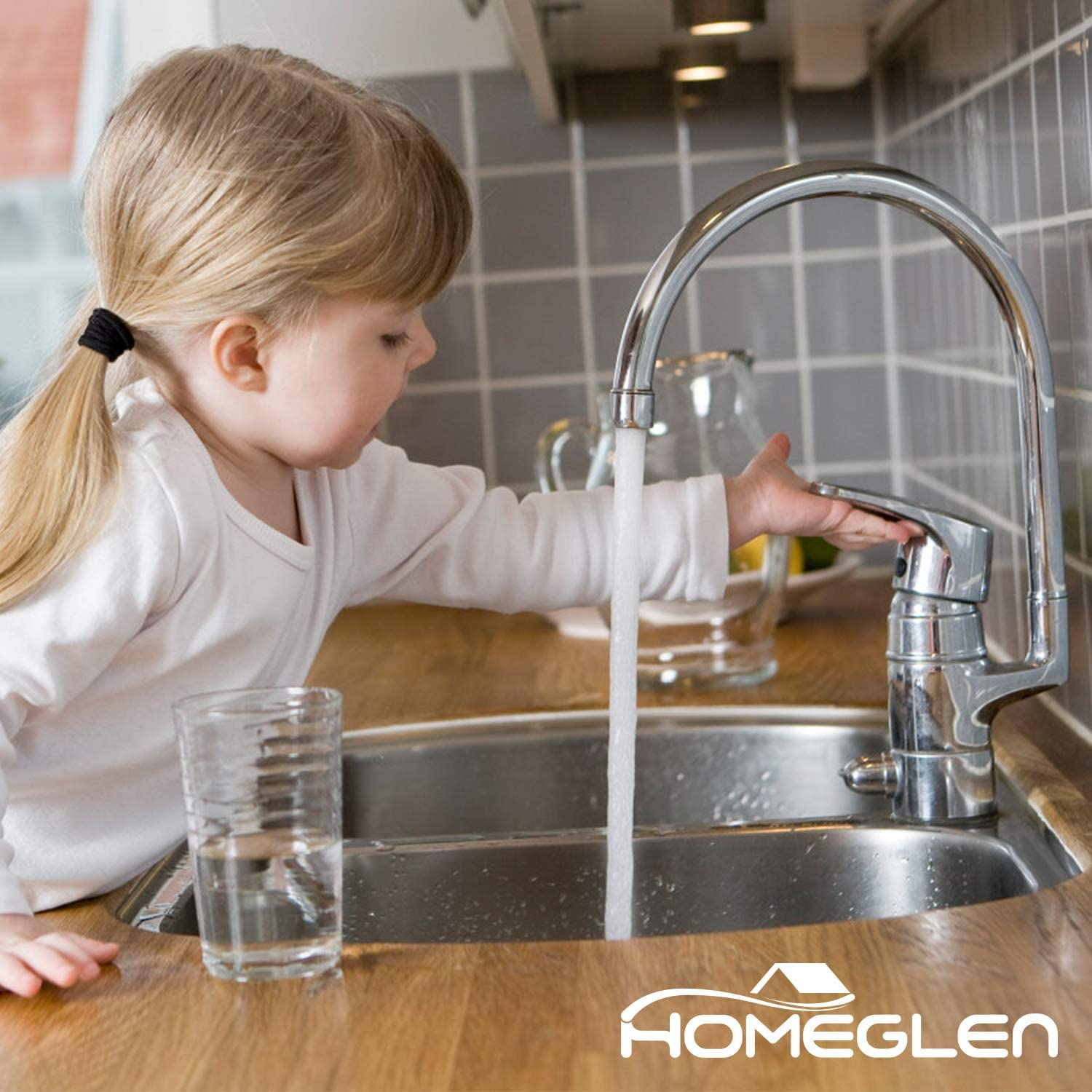 Reduces Lead BPA Free HOMEGLEN Faucet Water Filter Replacement Compatible with Brita 36311 On Tap Water Filtration System Replacement Filters for Faucets 2 Count