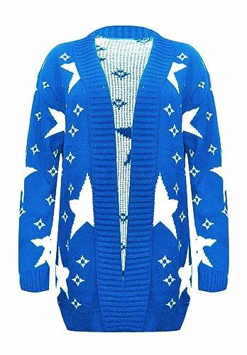 Janisramone – Cárdigan – Rebeca – Manga Larga – para mujer azul azul real 52-54