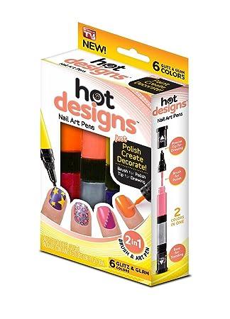 6 Color Starter Kit Hot Design Nail Art Glitz Amazon Home Kitchen