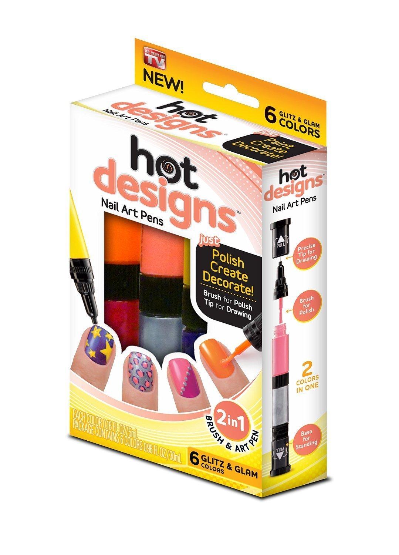 Amazon.com : Hot Designs Nail Art Pens, Basic Beauty : Beauty