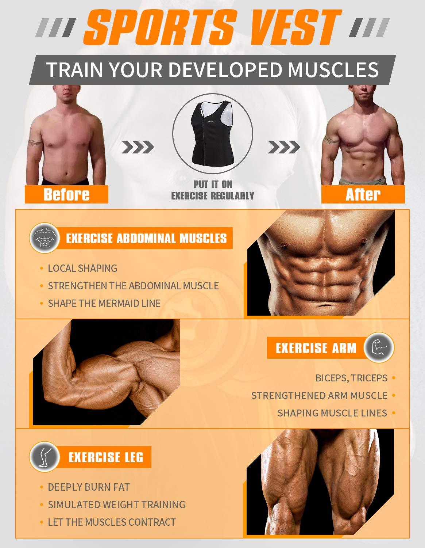 Kimikal Men Sweat Waist Trainer Vest Neoprene Weight Loss Corset Sauna Suit Shaper Slimming Shirt Workout Tank Top