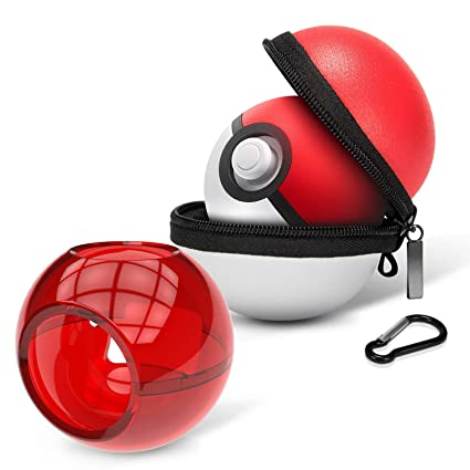 HEYSTOP Portable Carrying Case for Nintendo Switch Poke Ball Plus Controller, 2in1 Accessory Bag for Pokémon: Lets Go Pikachu Eevee Game for Nintendo ...