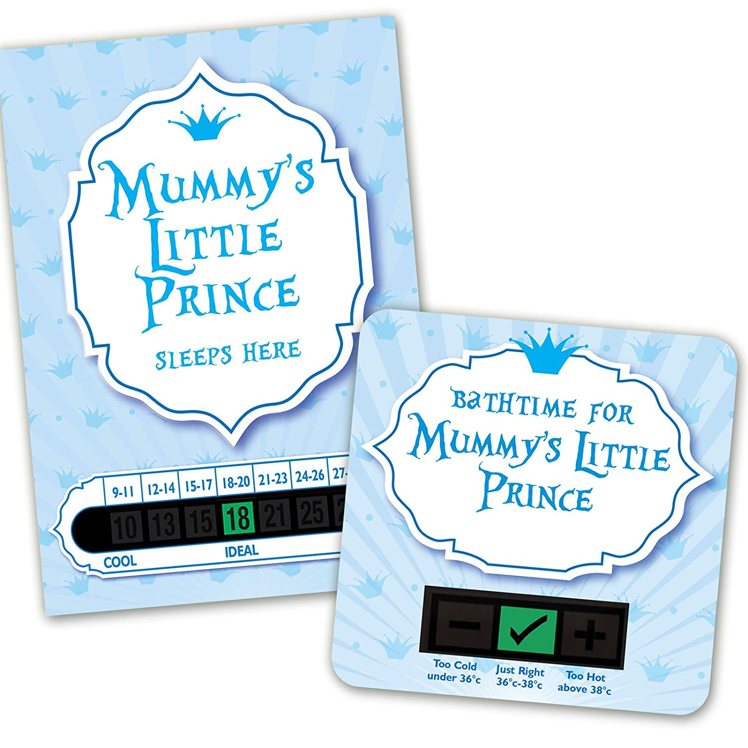 Mummys Little Prince room thermometer and bath thermometer set Funky Monkey House