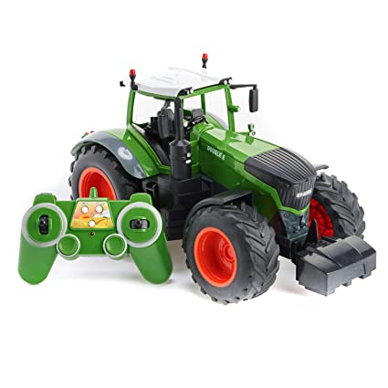 Toy Tractors For Sale >> Amazon Com Cheerwing 2 4ghz 1 16 Rc Farm Tractor Remote Control